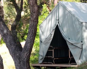 4 Person Canvas Cabin Tent
