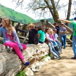 Students enjoy a tour of Marshall Gold Discovery State Historic Park with Scotty!