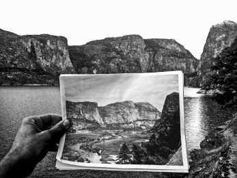 Hetch Hetchy Valley before and after it was dammed.