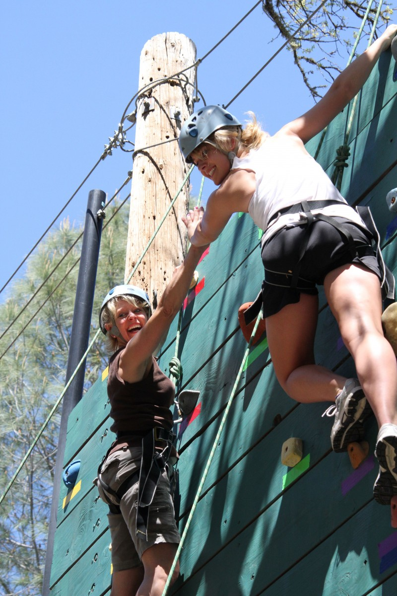 High Elements On Belay With Mother Lode River Center