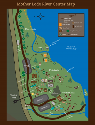 Mother Lode River Center Map