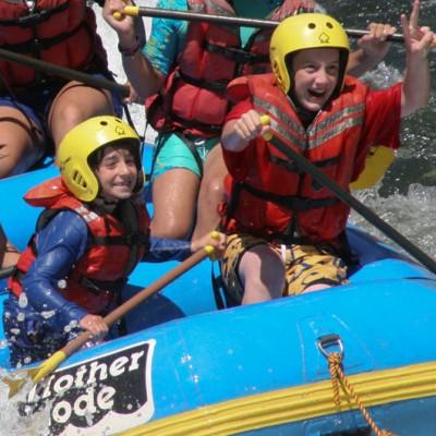 family rafting fun