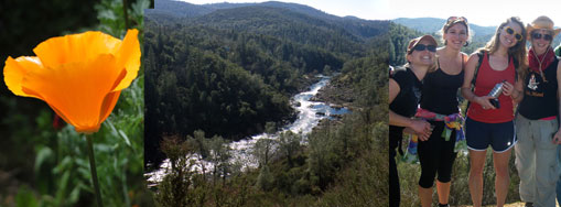 hiking along the South Fork of the American River