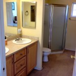 Master bathroom in the Eco-Friendly Retreat House