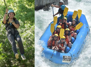 Raft and Zipline California