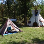 Tent and teepee camping at Mother Lode River Center.